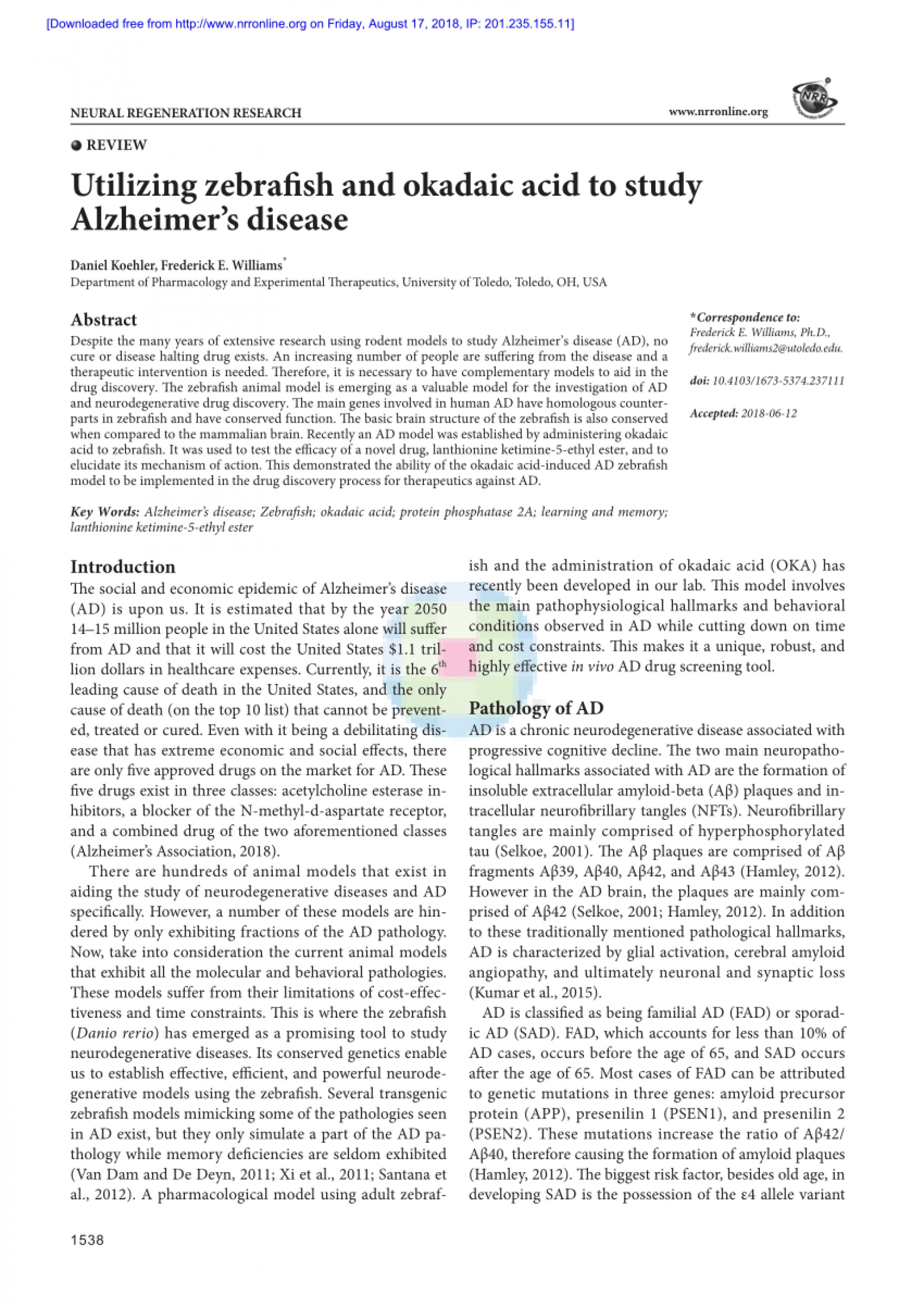 005 Alzheimers Disease Research Paper Impressive Alzheimer's Title Example Outline For 1920