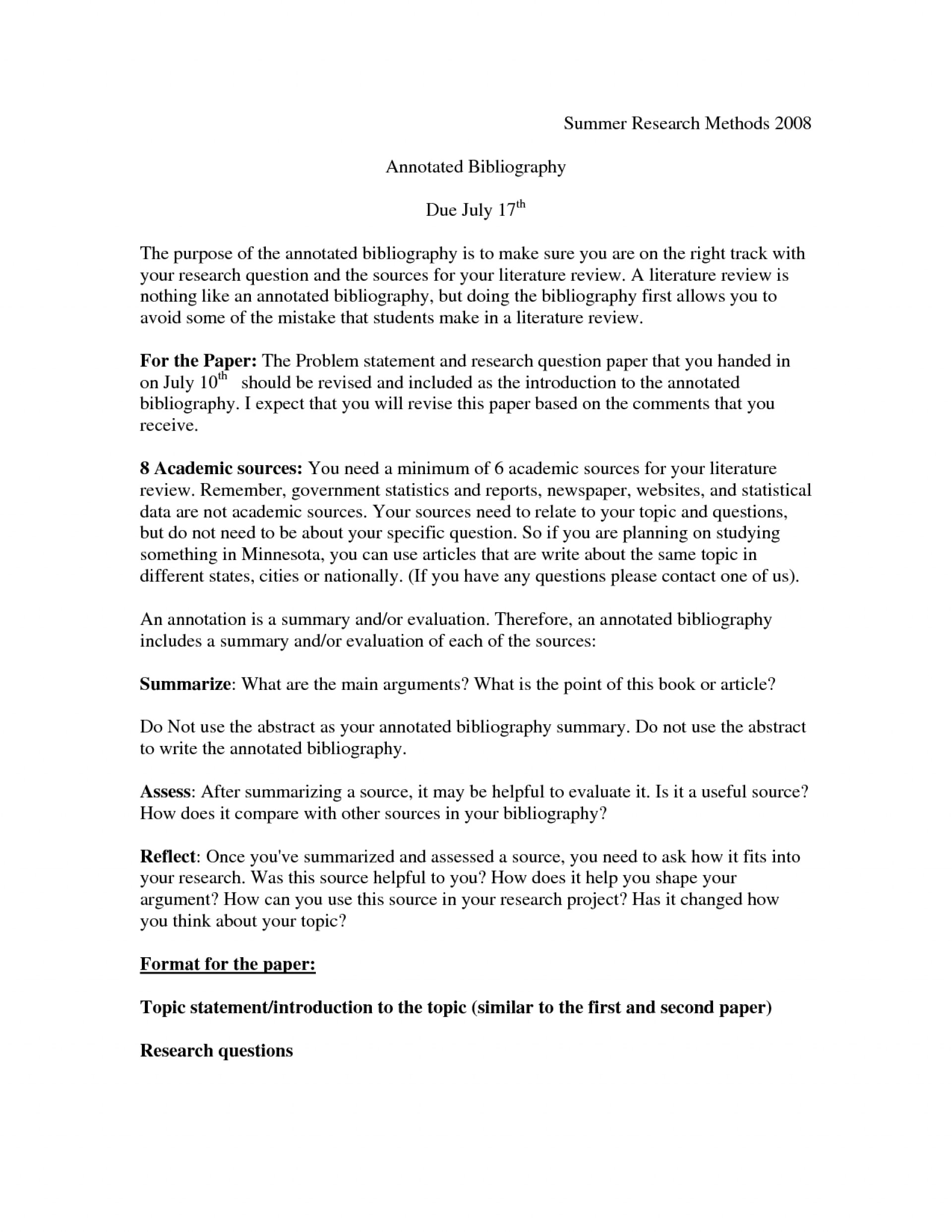 005 Annotated Bibliography Vs Research Paper Bunch Ideas Of Cute Sample Shocking Apa Example 1920