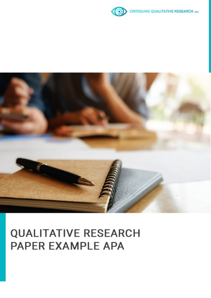 005 Apa Qualitative Research Paper Example Professional Thumbnail Unbelievable Format Sample Of Style