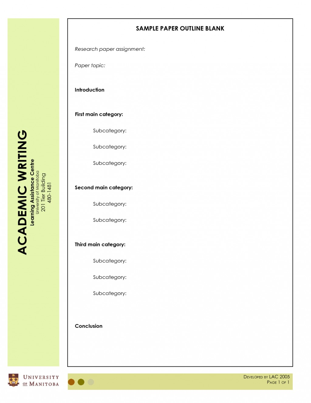 005 Blank Research Paper Outline Template Pdf Free For L Fascinating Large