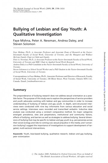 005 Bullying Research Paper Pdf Imposing Short About Quantitative Effects Of 360