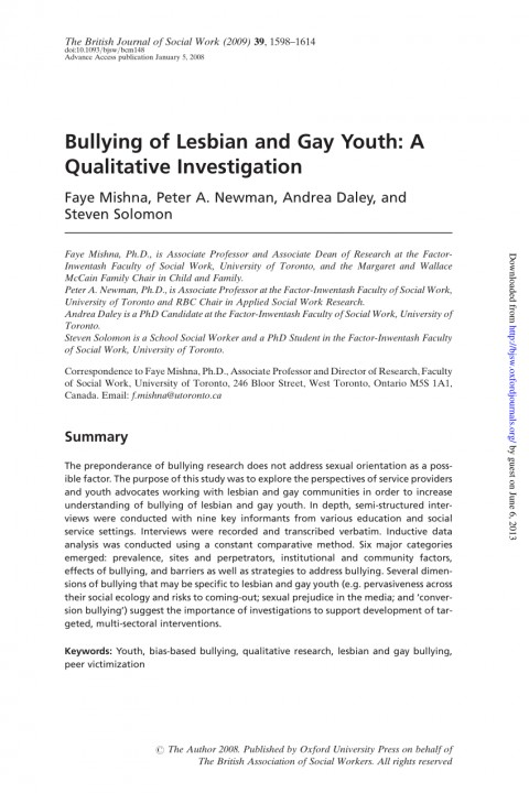 005 Bullying Research Paper Pdf Imposing Short About Quantitative Effects Of 480