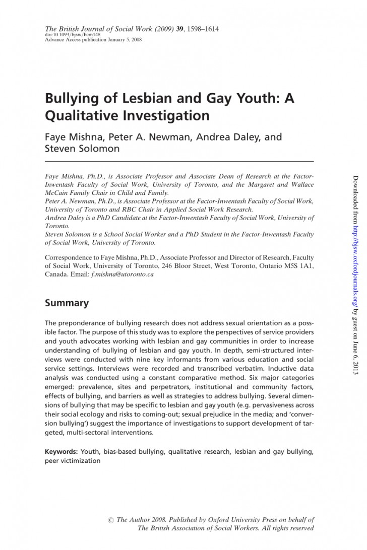 005 Bullying Research Paper Pdf Imposing Short About Quantitative Effects Of 728