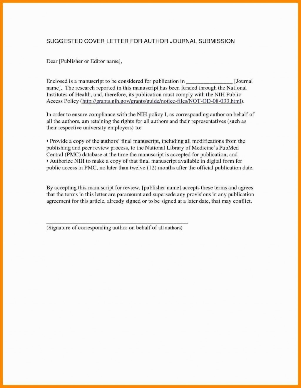 005 Cover Letter For Research Paper Striking Publication Manuscript Article Large