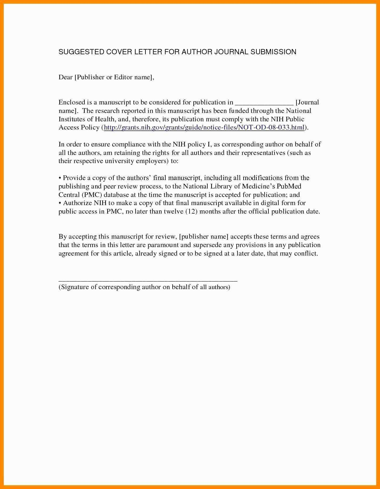 005 Cover Letter For Research Paper Striking Publication Manuscript Article Full