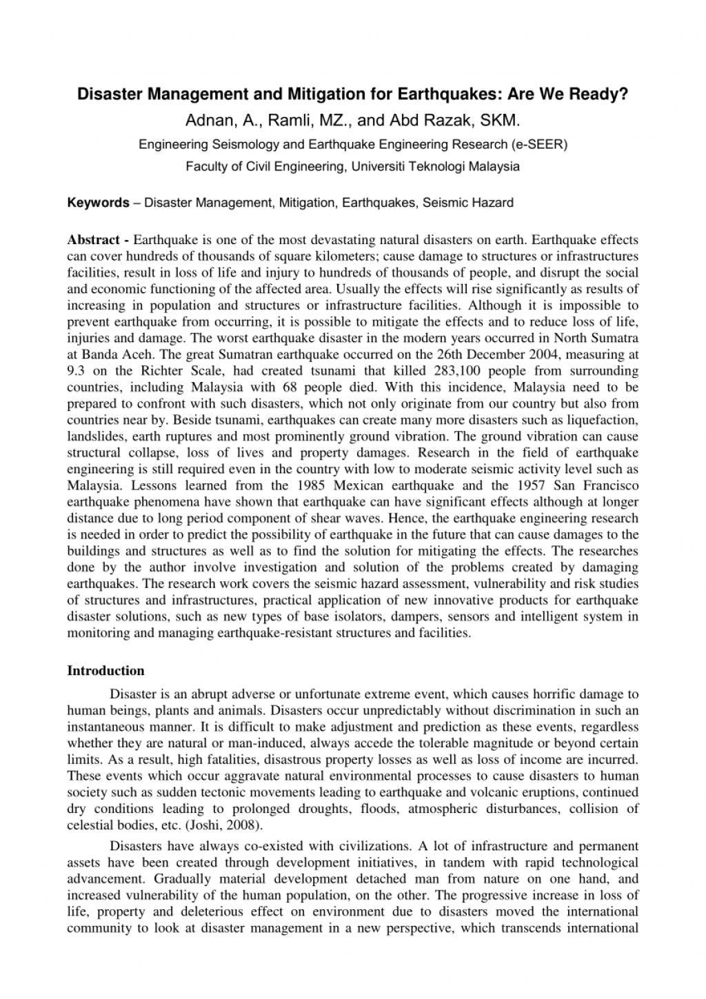 005 Earthquake Research Paper Pdf Philippines Wondrous Large