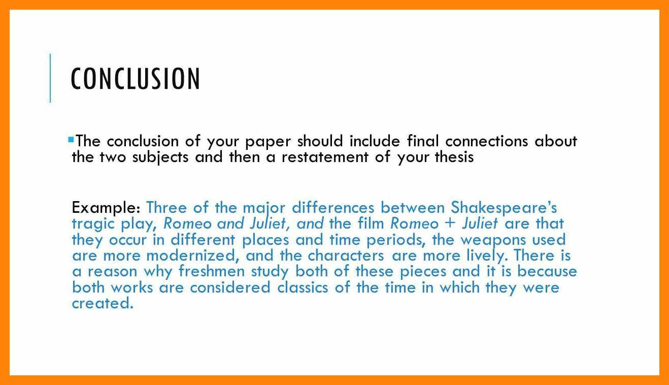 Conclusion essay example