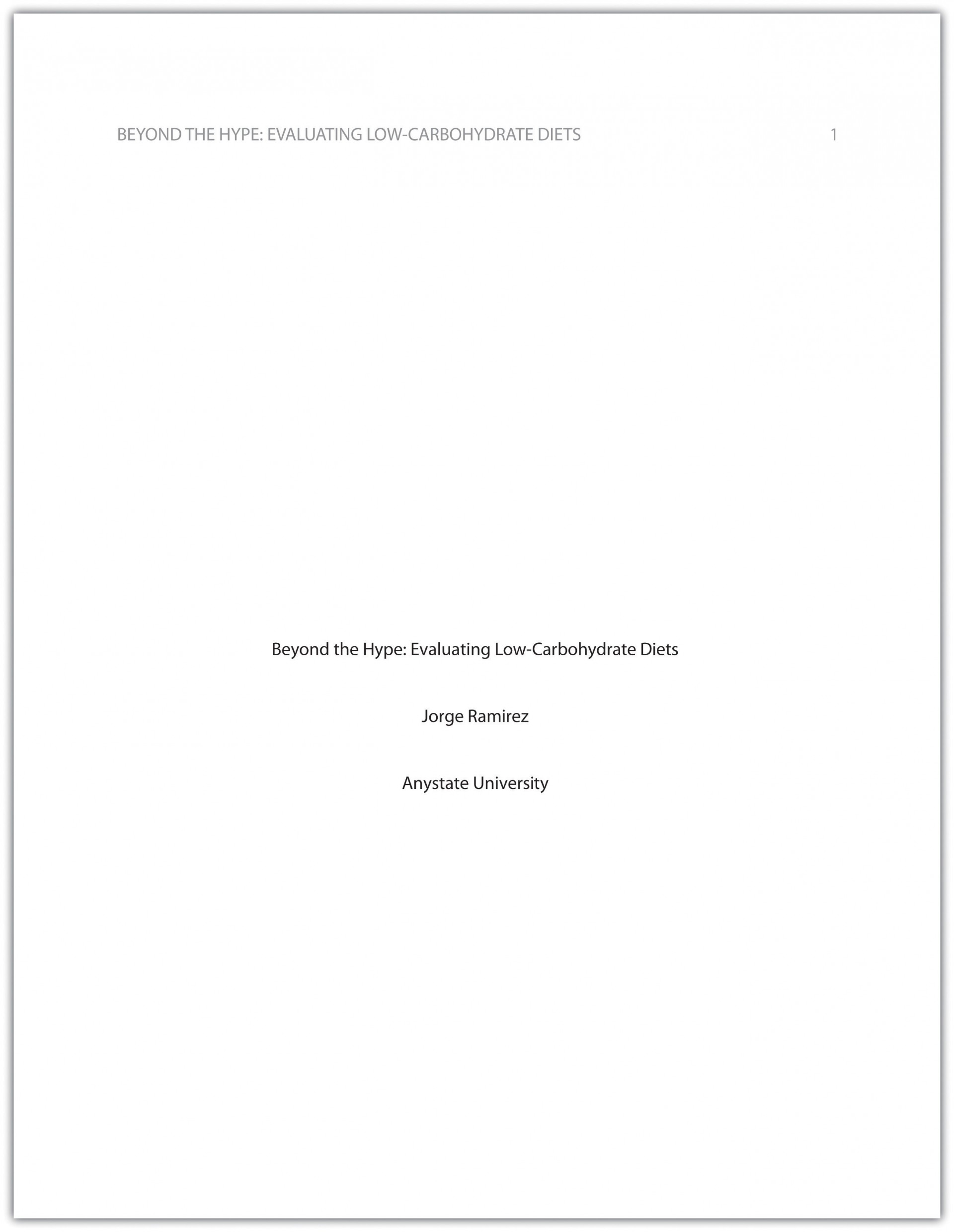 005 Format Of Research Paper Cover Page Marvelous Mla Style Title Example With First 1920
