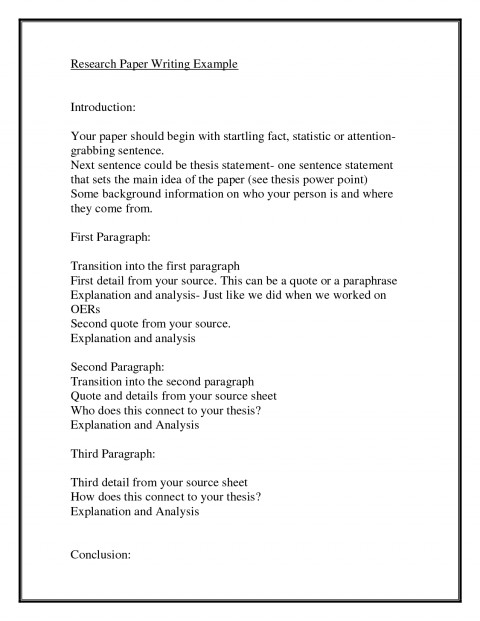 how to write a good research paper on a person
