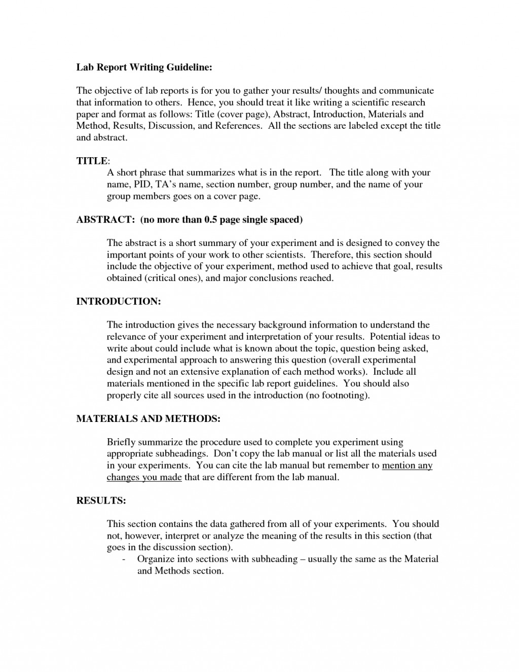 005 How To Write The Results Section Of Research Paper Ppt Surprising A Large