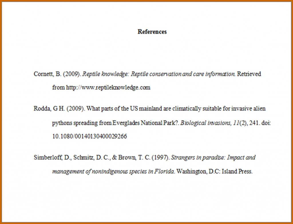 005 How Write References In Apa Format Samplereferencelist Works Cited Page Research Impressive Reference Example Generator Sample Large