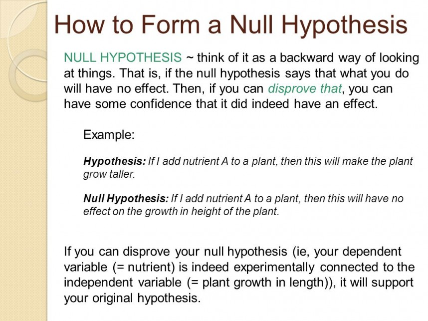 Striking Example Of Null Hypothesis In Research Paper ~ Museumlegs