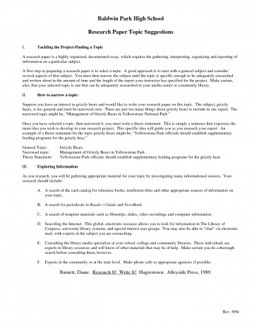 005 Interesting Topics For Research Paper High School Frightening A Students Argumentative 360