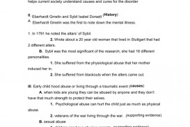 005 Liberty University Research Paper Outline Dissociative Identity Frightening