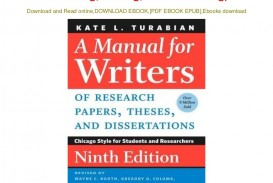 005 Manual For Writers Of Research Papers Theses And Dissertations Pdf Download Chicago Style Students Impressive A