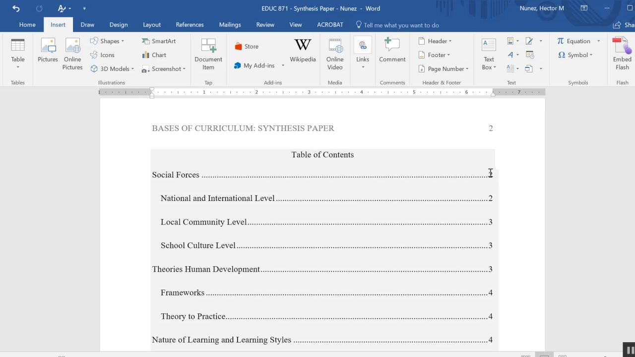 005 Maxresdefault Research Paper Table Of Fascinating Contents Apa Template With Style Example Full