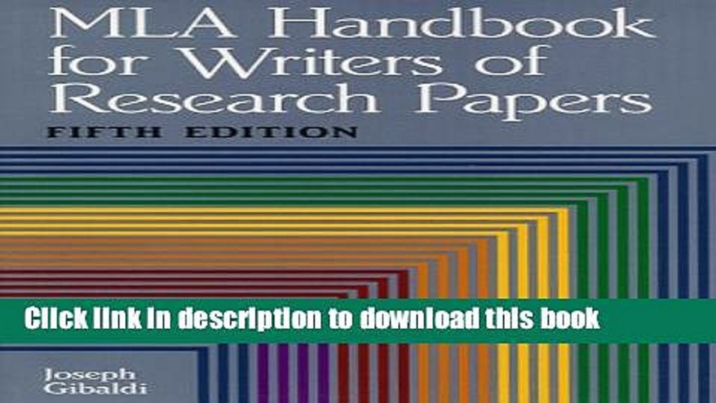 005 Mla Handbook For Writing Research Papers Paper X1080 Frightening Writers Of 8th Edition Pdf Free Download According To The Large