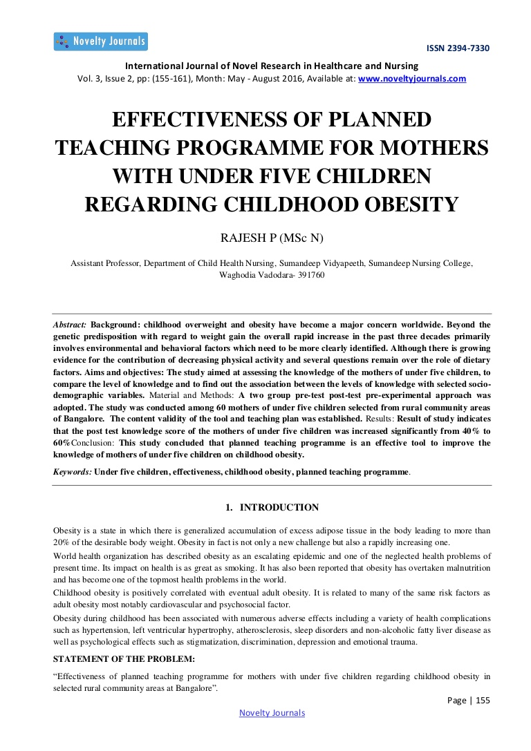 005 Nursing Research Articles On Childhood Obesity Paper Effectivenessofplanned Thumbnail Stirring Full