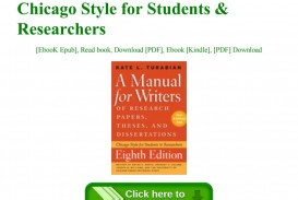 005 Page 1 Manual For Writers Of Researchs Theses And Dissertations Turabian Pdf Wonderful A Research Papers