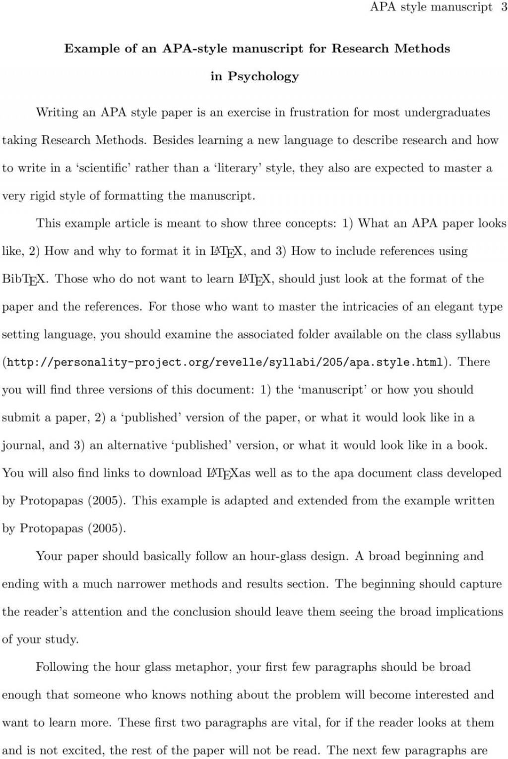 005 Page 3 Apa Style Research Paper Methods Archaicawful Section Large