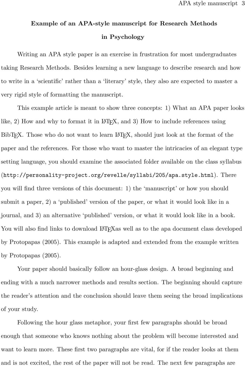 005 Page 3 Apa Style Research Paper Methods Archaicawful Section Full