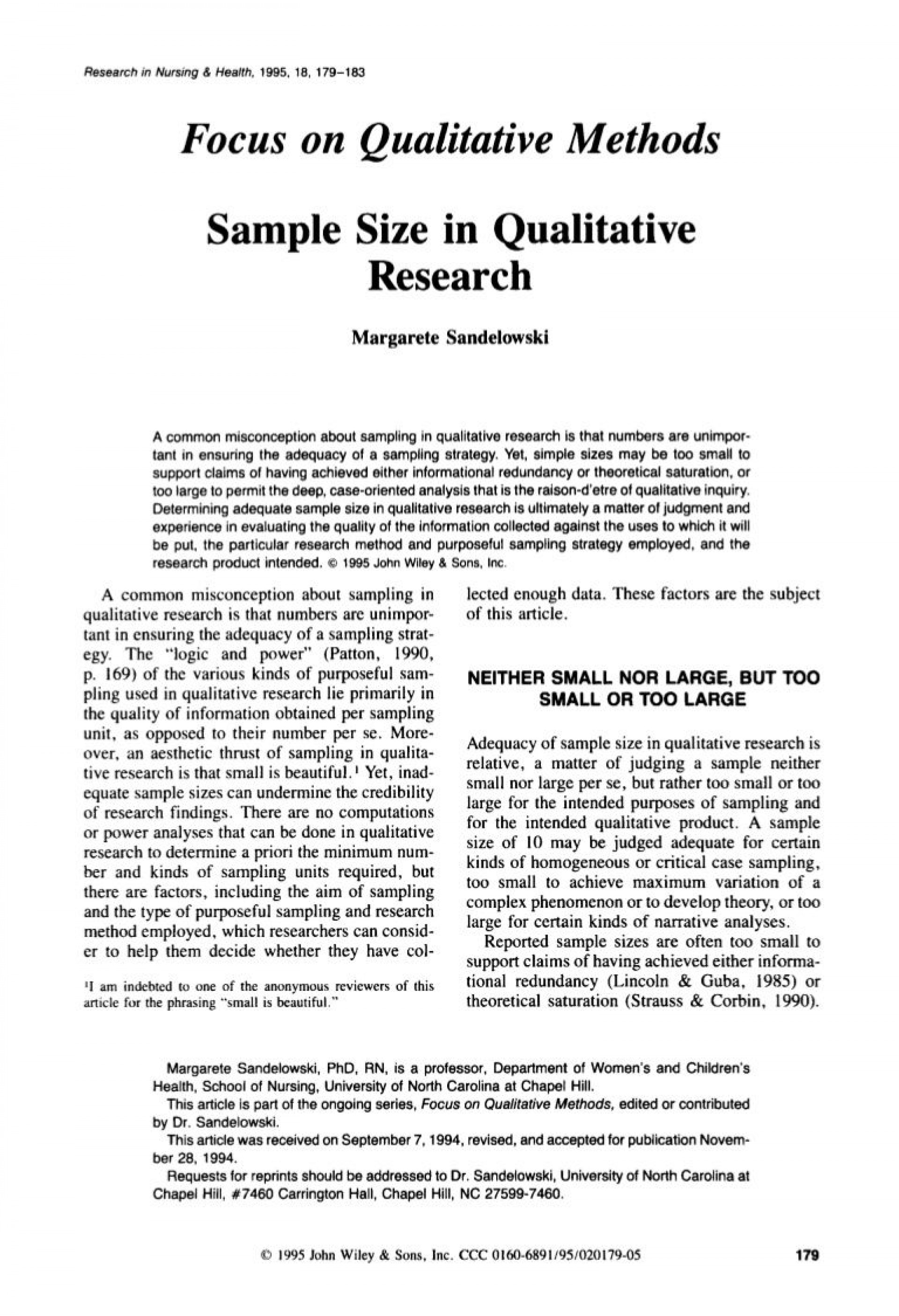 005 Qualitative Research Paper Impressive Example Examples Chapter 1 Apa 1920