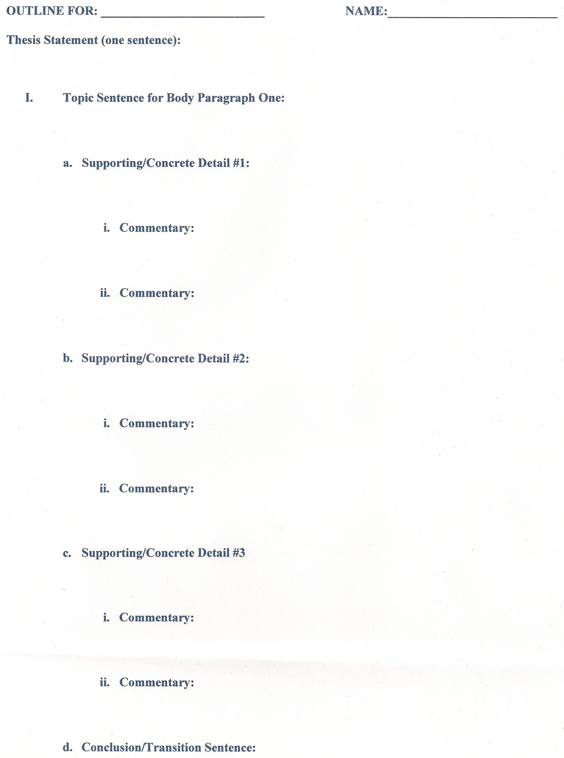 005 Research Paper Career Outline Middle School Dreaded 1920