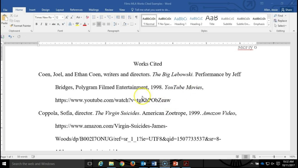 005 Research Paper Citations For Mla Astounding Citing A Website In Format Large