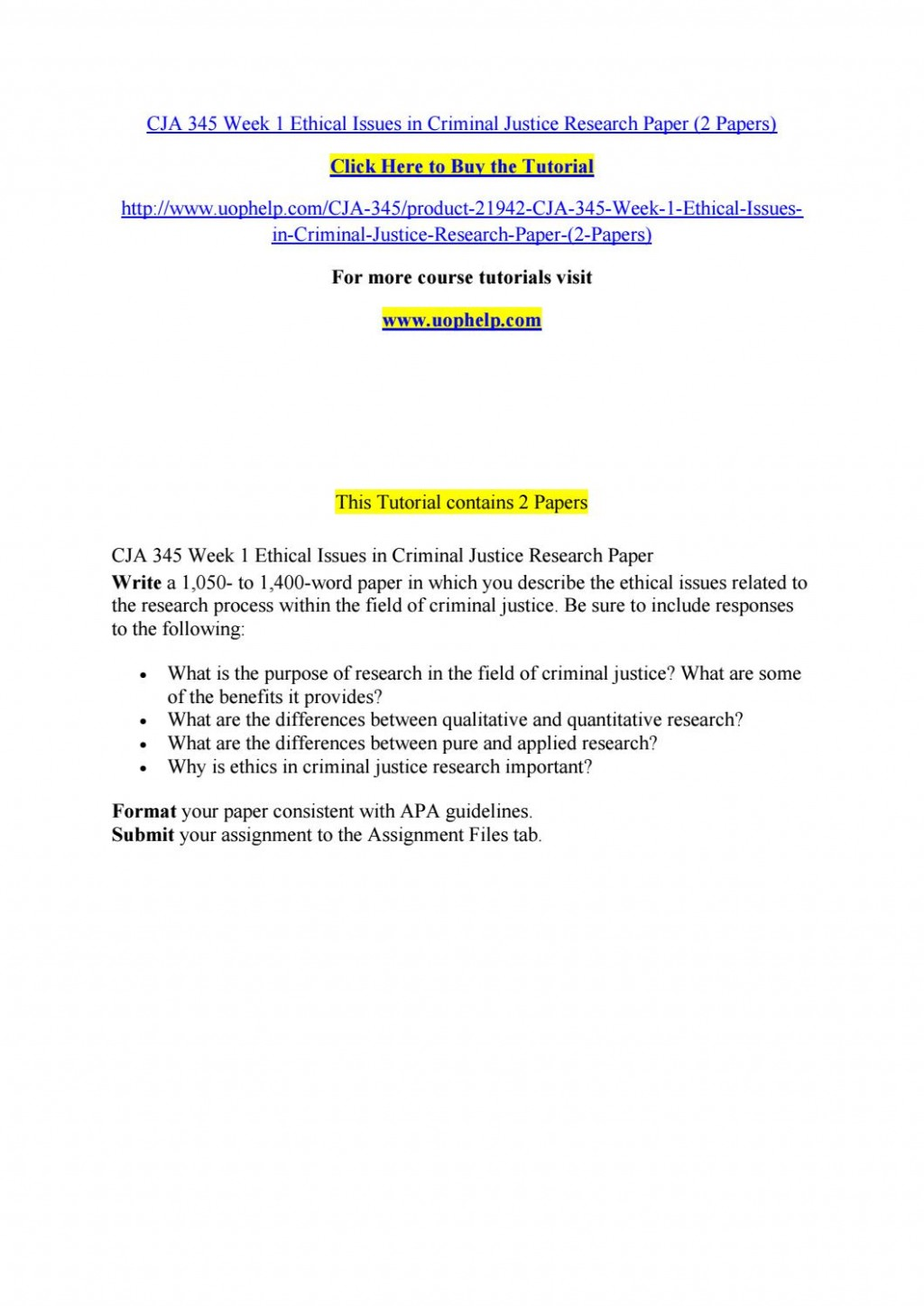 005 Research Paper Criminal Justice Papers Page 1 Formidable Examples Of Free Large