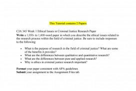 005 Research Paper Criminal Justice Papers Page 1 Formidable Examples Of Free