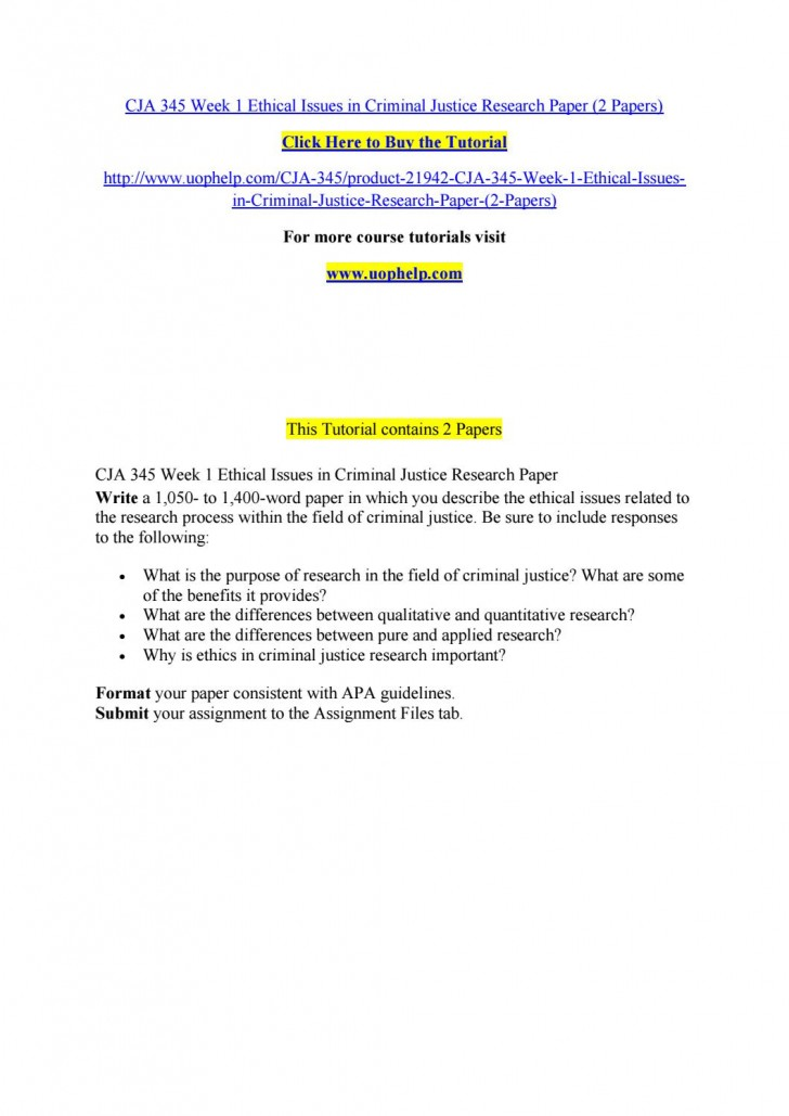 005 Research Paper Criminal Justice Papers Page 1 Formidable Free Sample 728