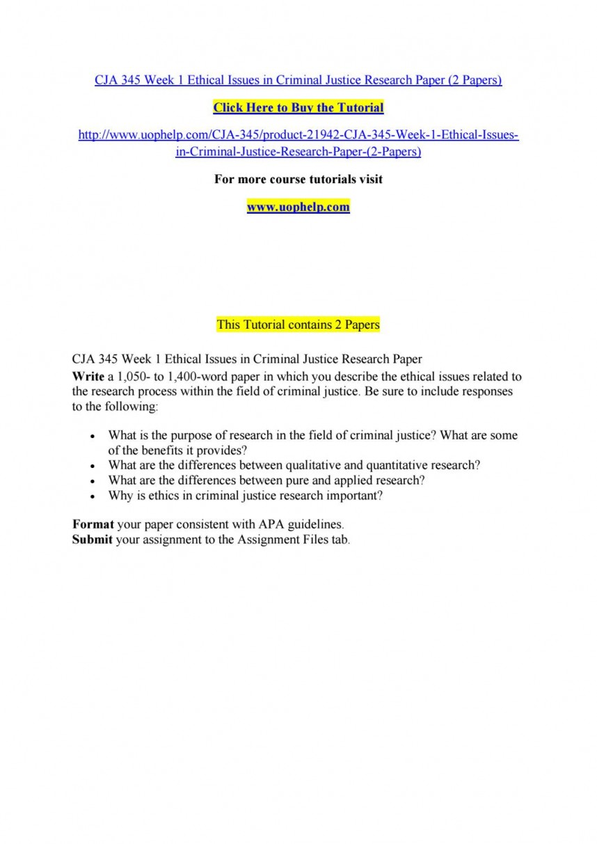 005 Research Paper Criminal Justice Papers Page 1 Formidable Sample Easy Topics For Examples Of