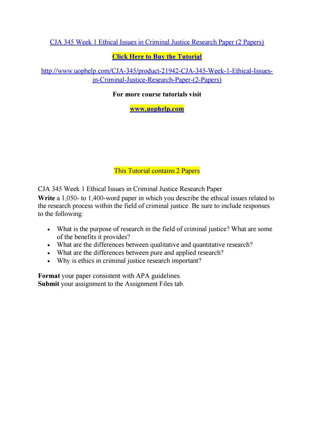 005 Research Paper Criminal Justice Papers Page 1 Formidable Examples Of Free Full