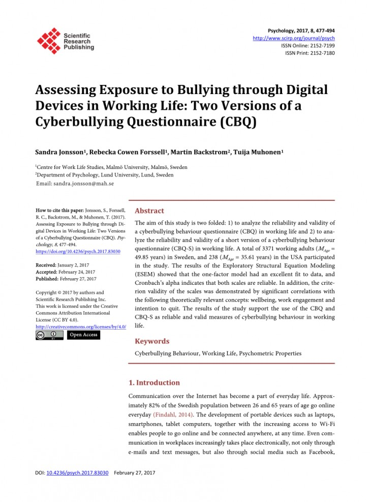 005 Research Paper Cyberbullying Questions Awful Topics Topic 728