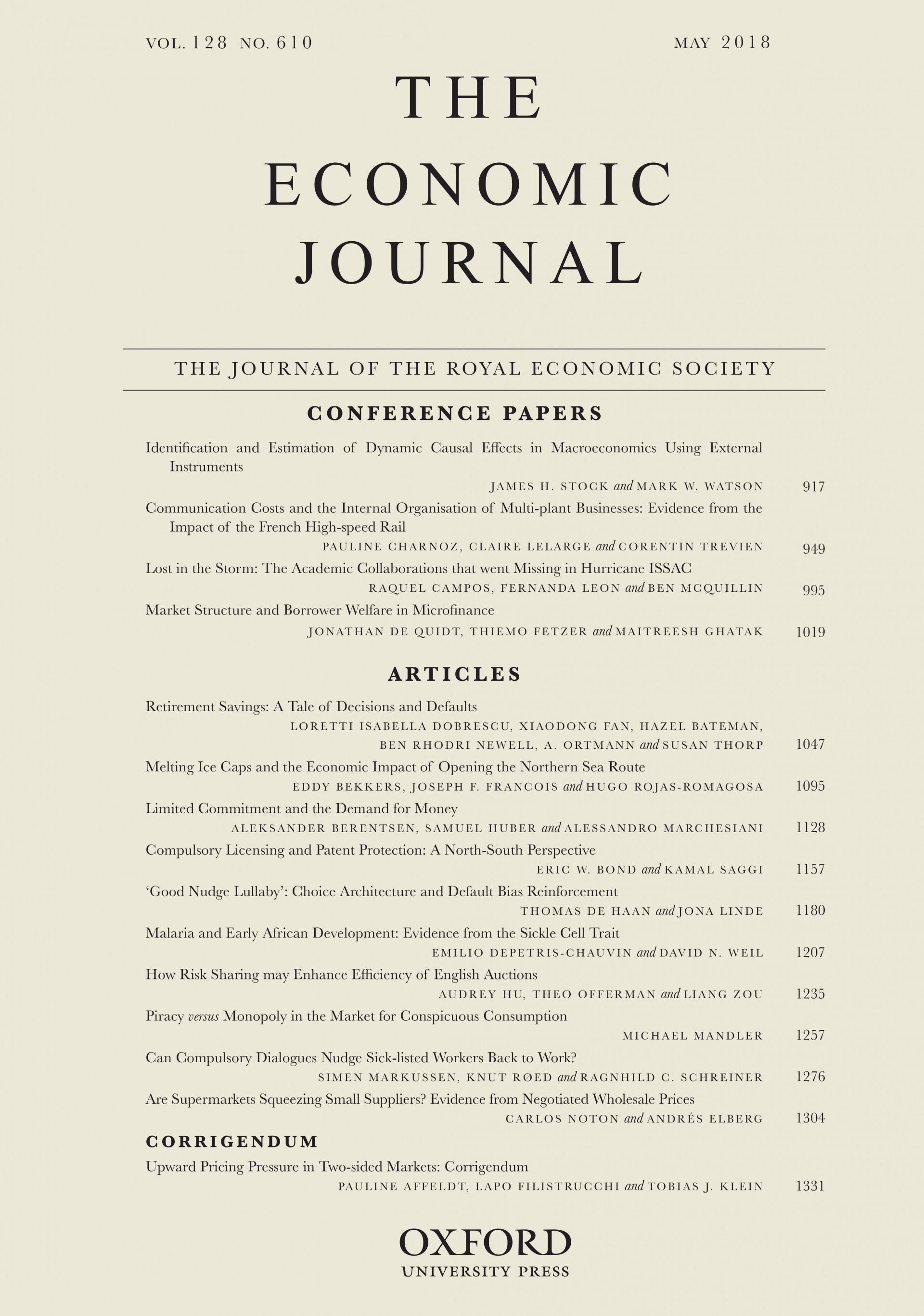005 Research Paper Ej Economics Papers Exceptional Pdf On Financial Health 1920
