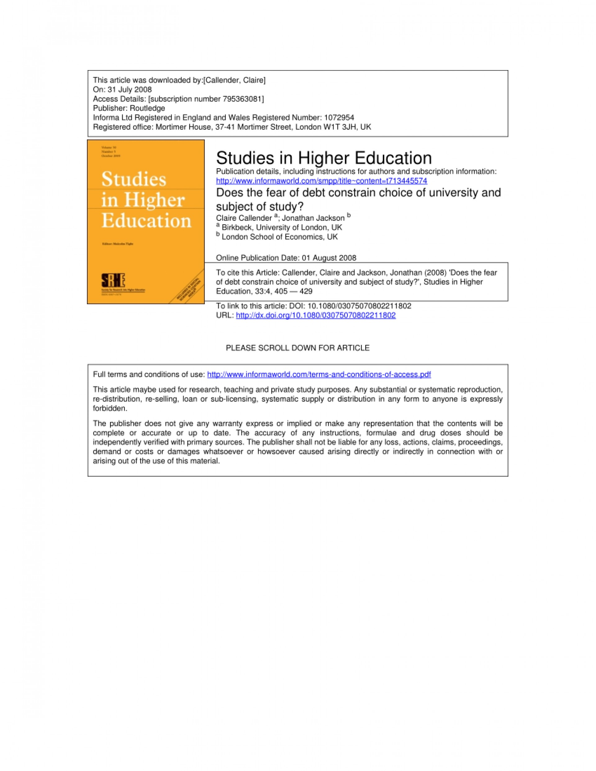 005 Research Paper Higher Education Pdf Amazing 1920