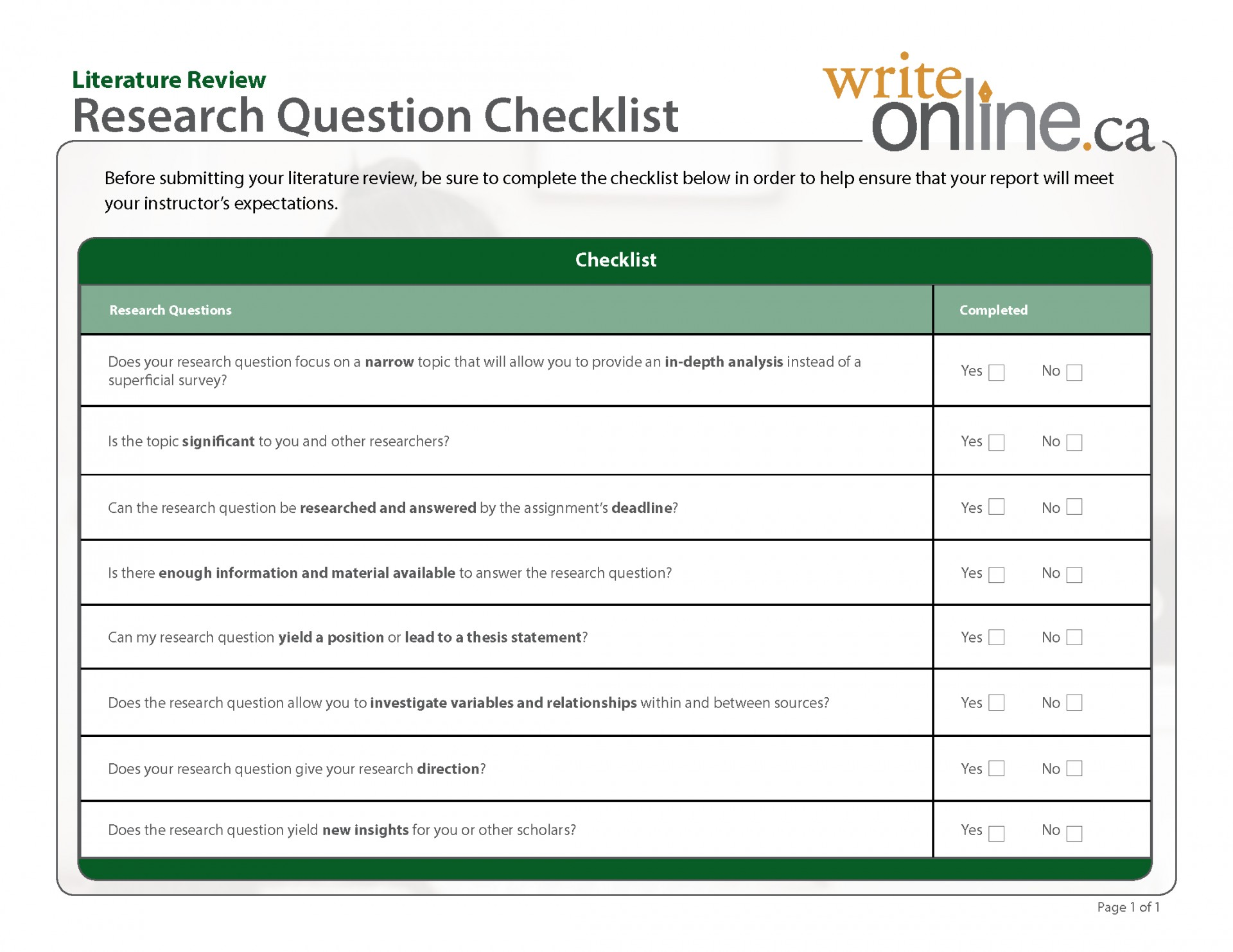 005 Research Paper How To Write Questions Pdf Researchquest Checklist Astounding Objectives And 1920