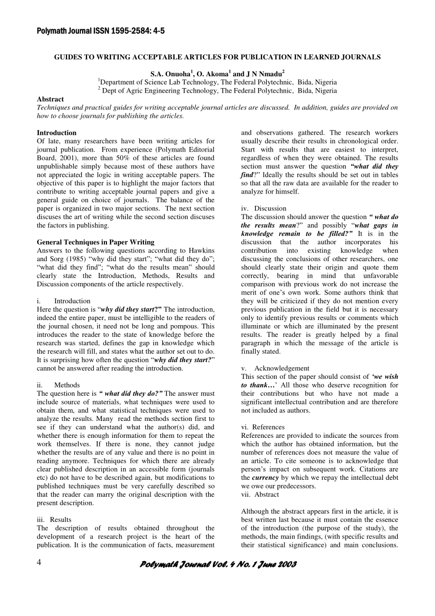 how to start a results section of a research paper