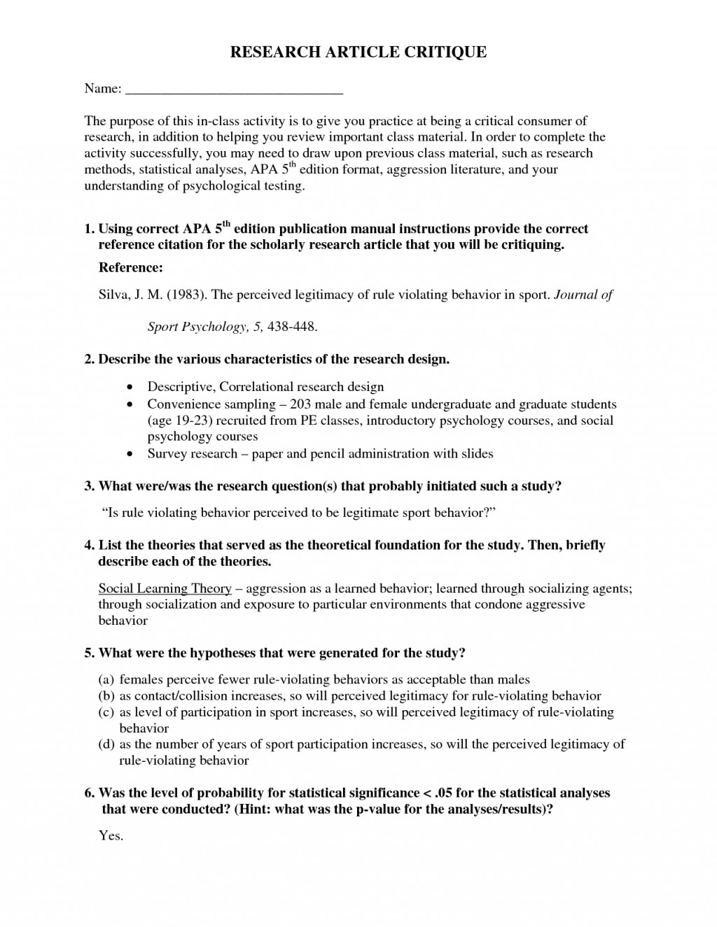 005 Research Paper Hypothesis Example Breathtaking Null Psychology Examples Large
