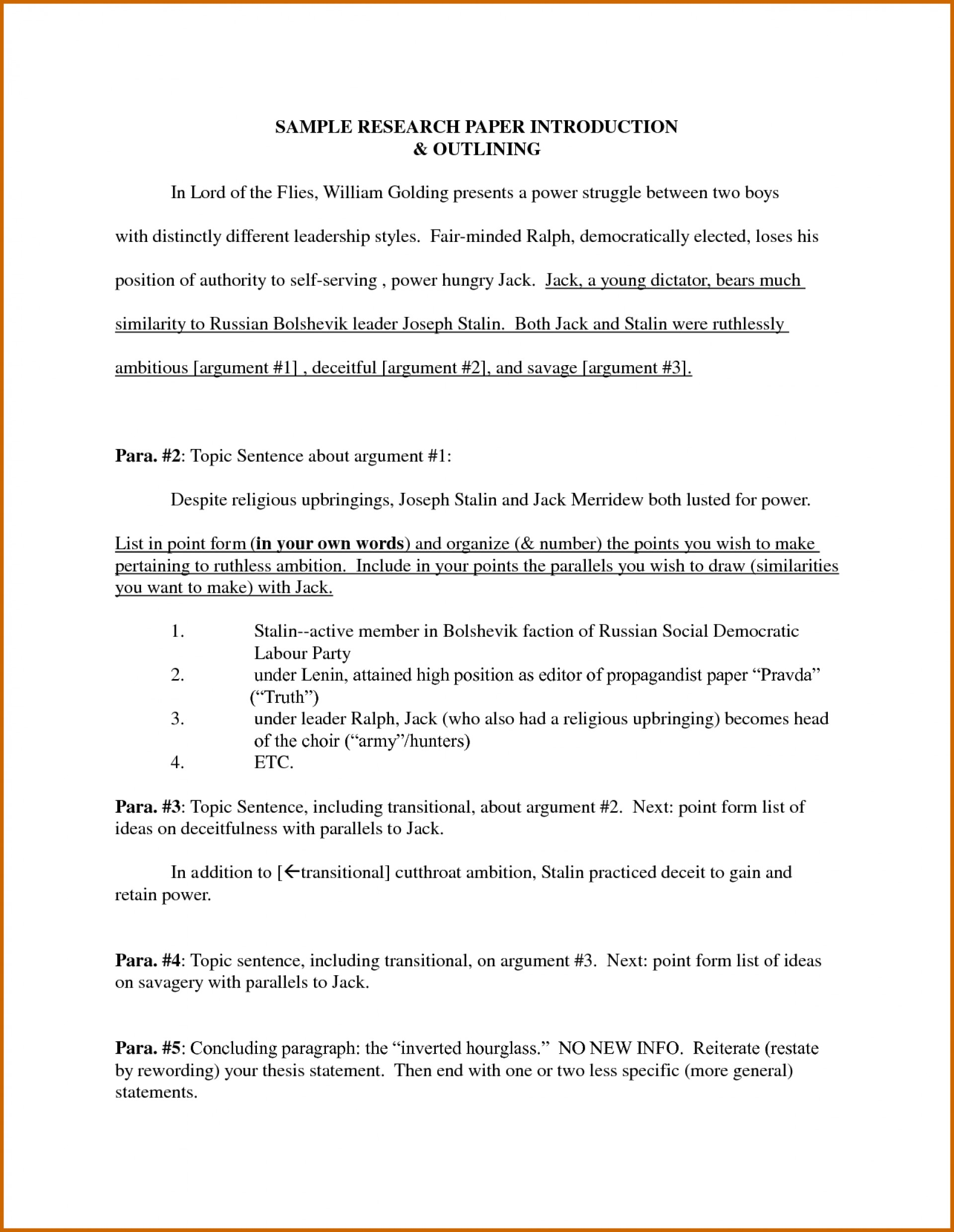 005 Research Paper Introduction For Term Sample How To End Magnificent A 1920