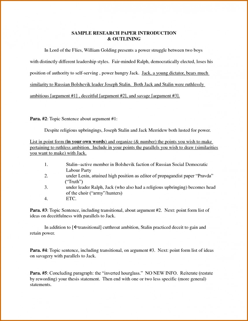005 Research Paper Introduction For Term Sample How To End Magnificent A