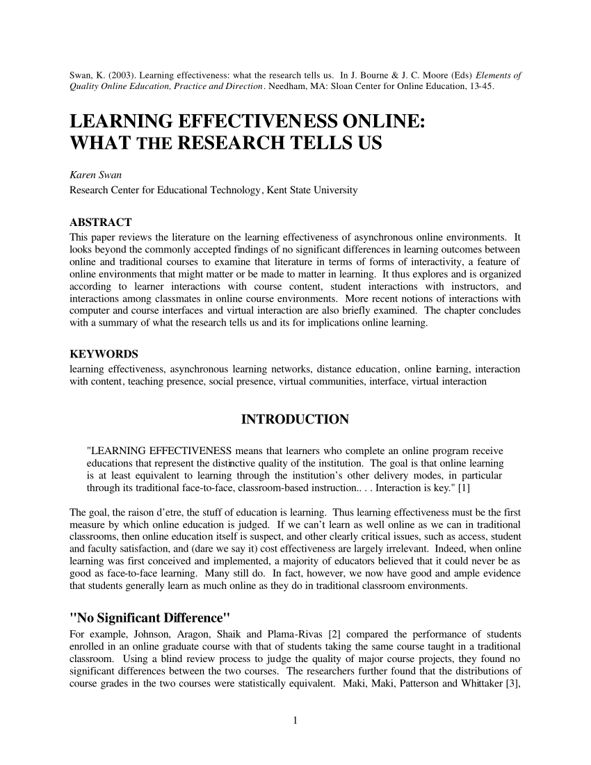 005 Research Paper Largepreview Effectiveness Of Online Amazing Education Full