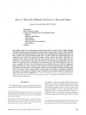 005 Research Paper Methods Section In Sensational A Results Of Scientific Apa Example Pdf 360