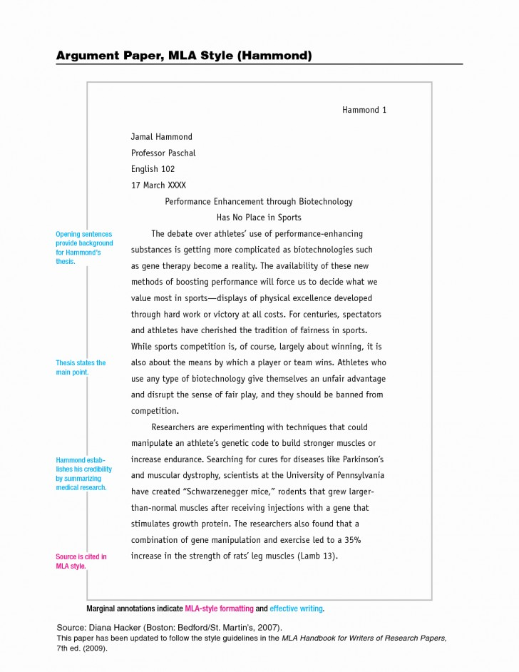005 Research Paper Mla Style Format Best Of Sample Pages In Beautiful Order A Example Proposal Examples 728