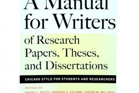 005 Research Paper N21270079a 1 Manual For Writers Of Papers Theses And Dissertations 7th Sensational A Edition