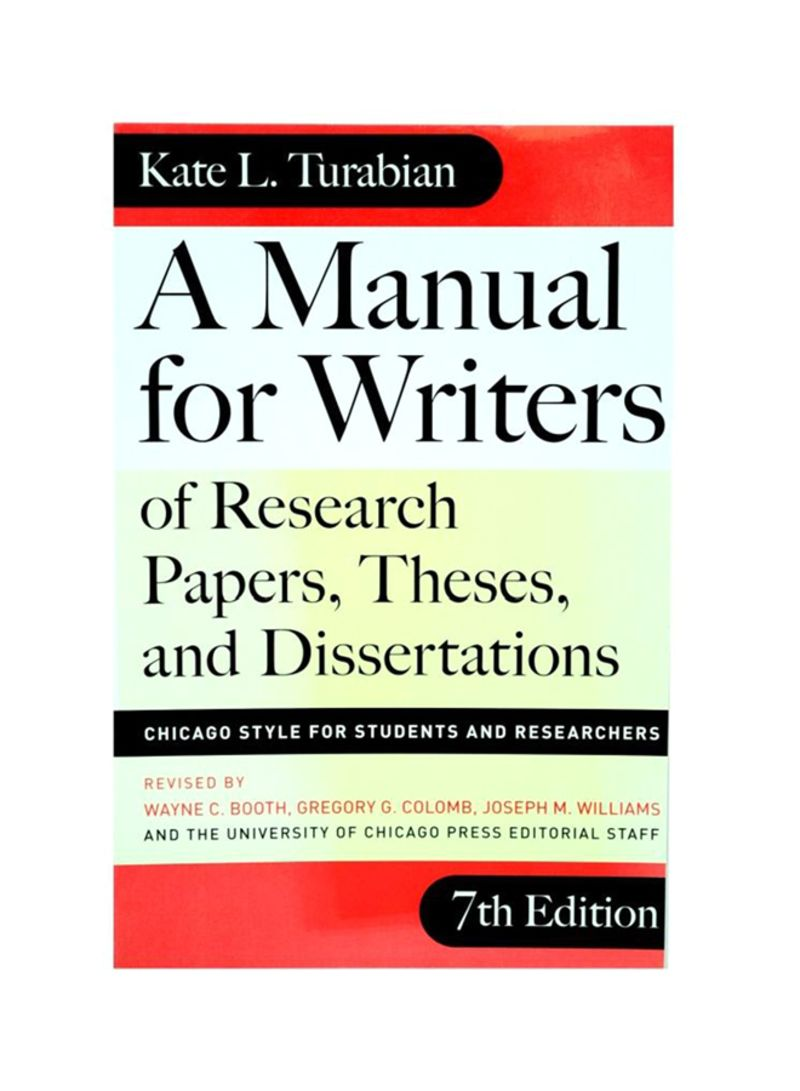 005 Research Paper N21270079a 1 Manual For Writers Of Papers Theses And Dissertations 7th Sensational A Edition Full