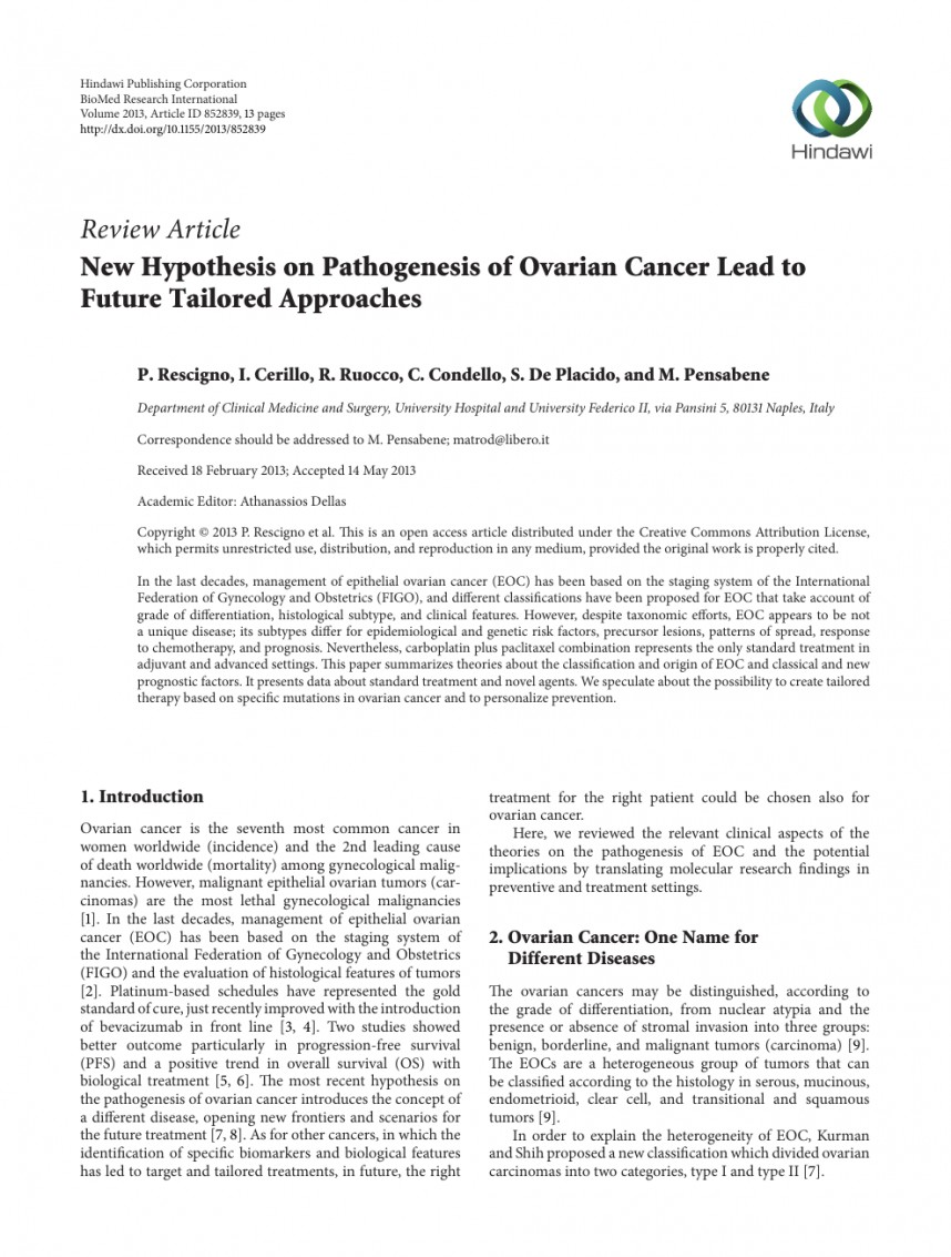 005 Research Paper Ovarian Cancer Archaicawful Papers Topics Free Pdf