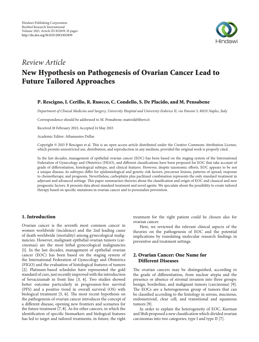 005 Research Paper Ovarian Cancer Archaicawful Papers Topics Free Full