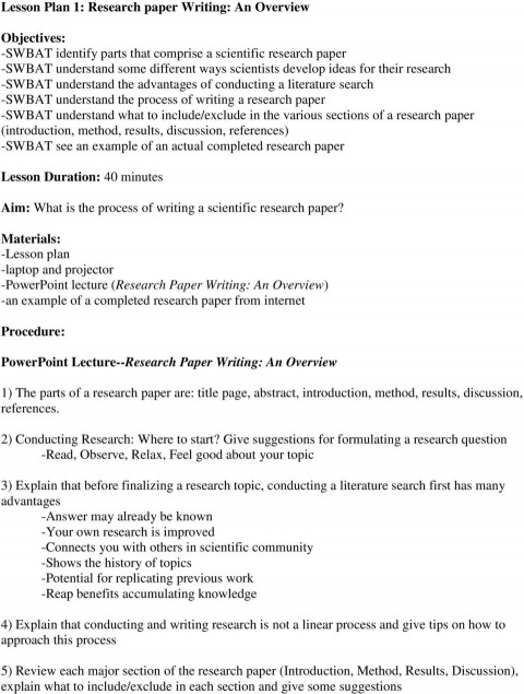 005 Research Paper Page 1 Parts Of Wonderful A Introduction 480