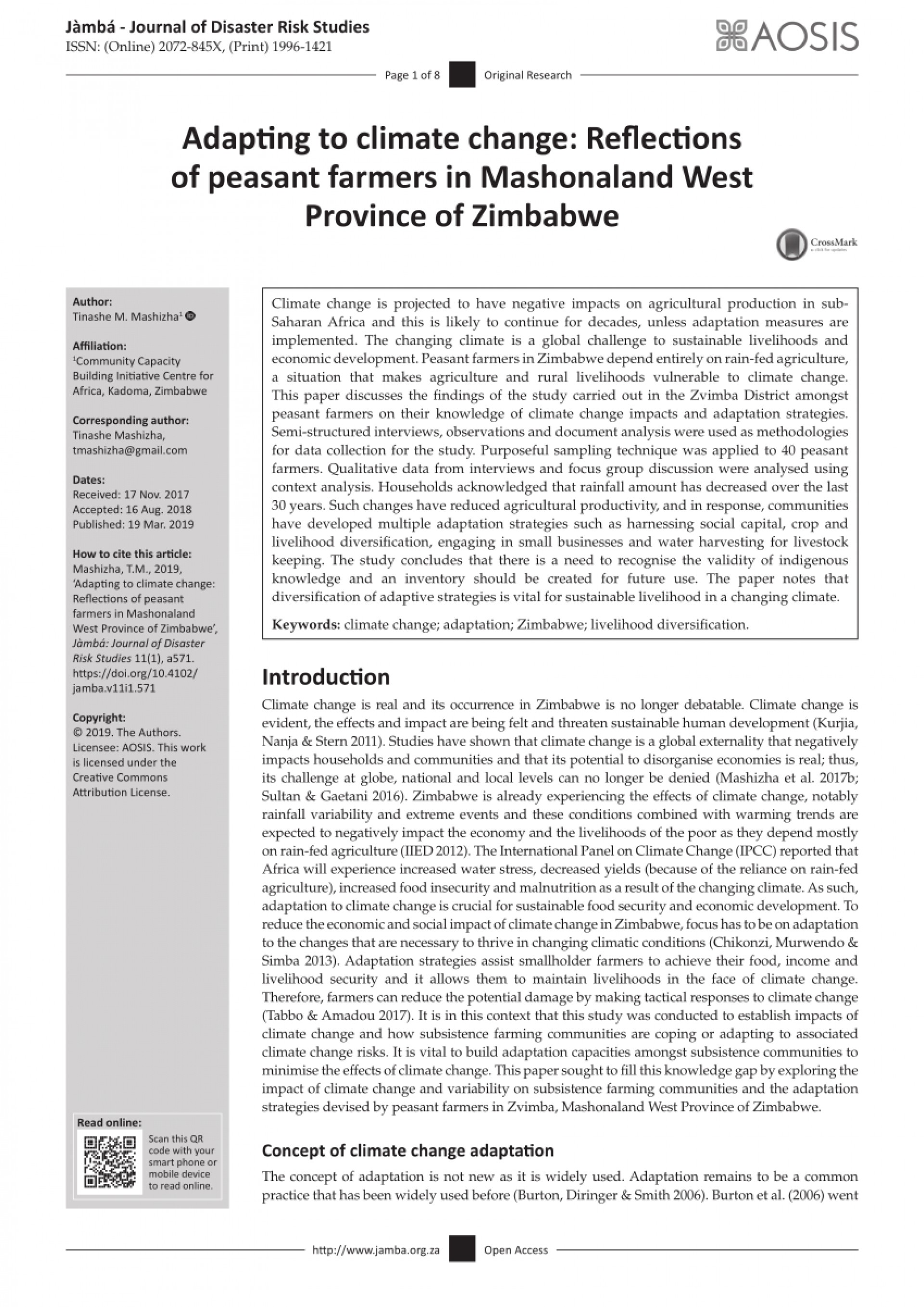 005 Research Paper Pdf Papers On Climate Change In Zimbabwe Imposing 1920